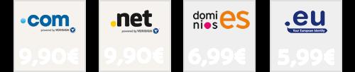 oferta precio de dominios