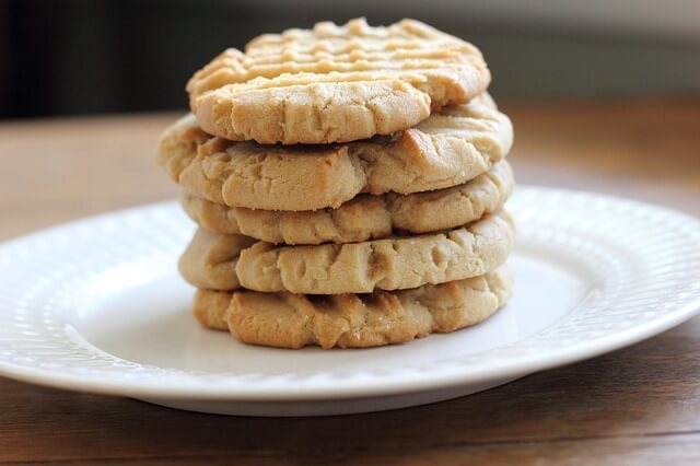 Dos capas sobre cookies