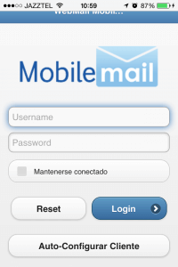 Ample configuració automàtica iOS