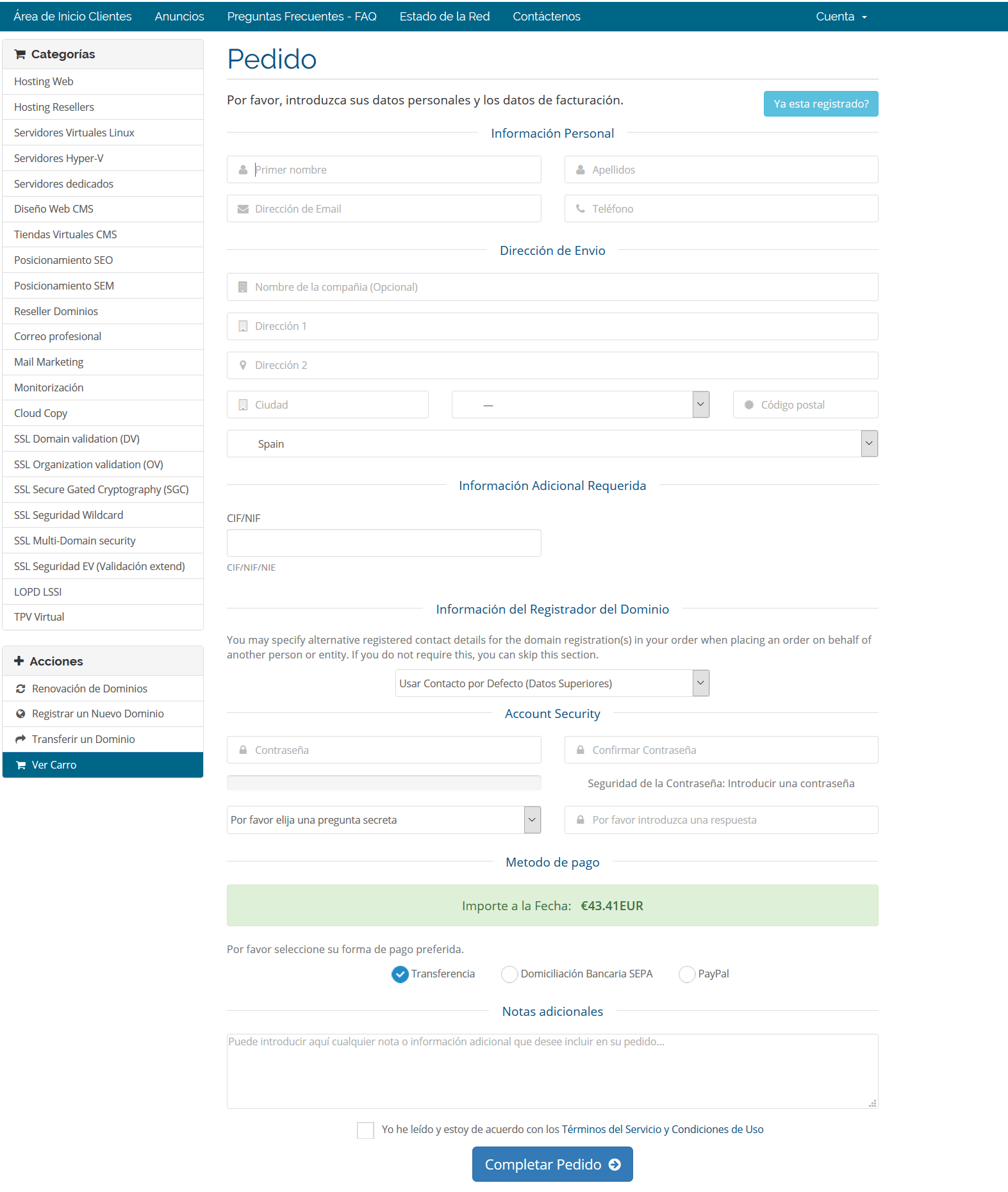 registro de panel